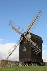 Old windmill near the botanical garden in Aarhus, Denmark