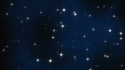 particle 3D animation of sparkling stars; loopable