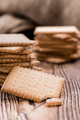 Butter Biscuits on wood