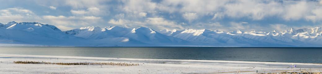 Panorama of Namtso lake in Tibet