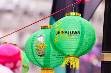 Chinese new year lantern in london
