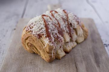 Pizza croissant