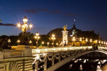 Bridge of the Alexandre III in Paris