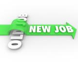 New Job Vs Old Job Career Change Promotion Better Work poster