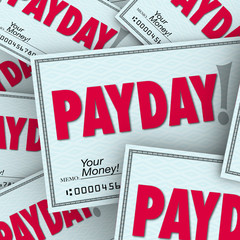 Payday Word Checks Money Income Earned Working Job