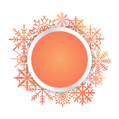 Bright colorful vector card with snowflakes