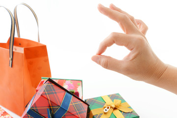 バッグとプレゼント