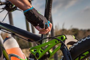 Mountainbike Saddle adjustment