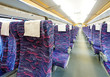 inside the high speed train compartment