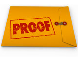 Proof Word Yellow Envelope Verification Evidence Testimony poster