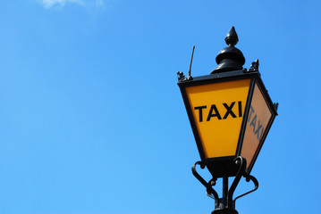 Old taxi lamp in London