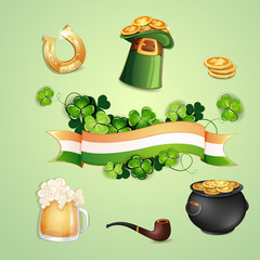 Saint Patrick's Day symbols.