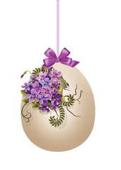 яйцо с фиалками