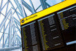 Check in, Airport Departure & Arrival information board sign - 78676223