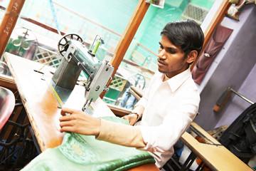 Indian man tailor portrait