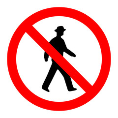 Prohibition No Pedestrain Sign Vector