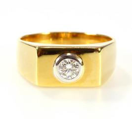 gold diamond ring isolated on white background