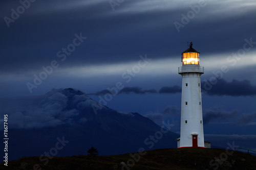 Foto op Aluminium Vuurtoren / Mill Cape Egmont Lighthouse, New Zealand