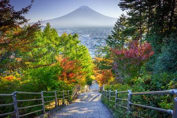 Stairway to Mt. Fuji Fujiyoshida, Japan