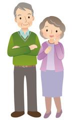 高齢者夫婦 全身