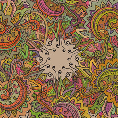 Vector pattern of the indian floral ornament