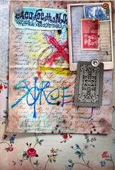 Esoteric graffiti background