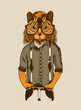 Illustration of Hipster Cat.