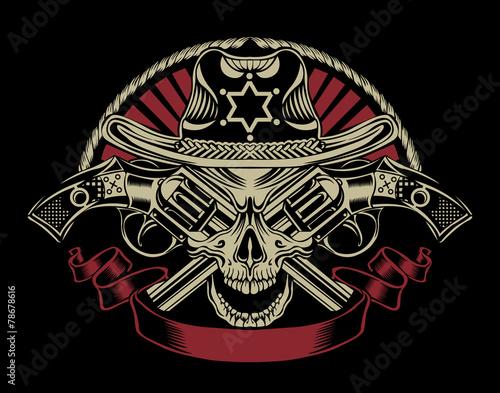Illustration of Sheriff's skull. - 78678616