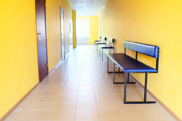 Hospital corridor interior