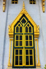 window of sothorn temple in Chachoengsao Thailand
