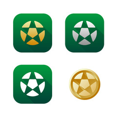 Set of soccer icons and logos