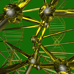 color pattern of the array lattice atom