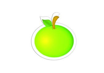 Apfel - Apple / Sticker / Aufkleber
