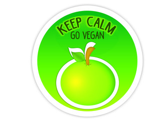 Keep Calm - Go Vegan / Sticker