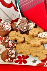 Gingerbread cookies and peppermint candy canes