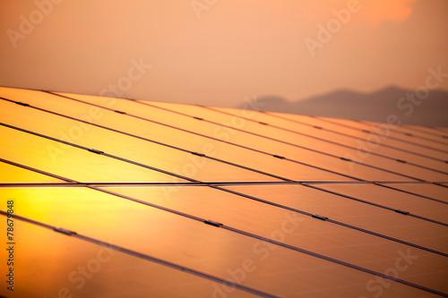 Solar Panel with Sun - 78679848