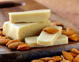 Marzipan almonds bar  bread , wish fresh almond