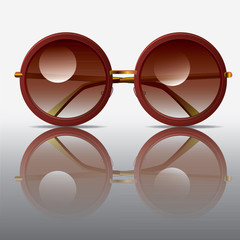 old rounded sunglasses