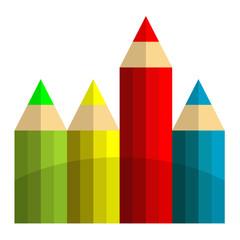 Icono lapices de colores