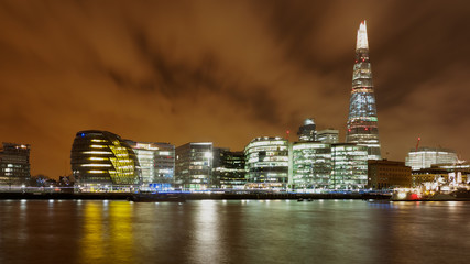 Night shot across the River Thames