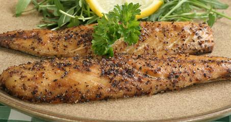 cooked mackerel seasoned with peppercorns