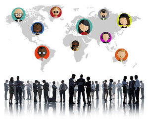 Global Community Social Networking Connection Concept