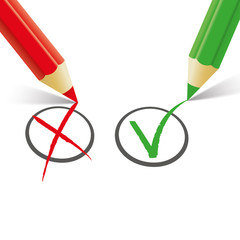 Red Green Pen Wrong Right