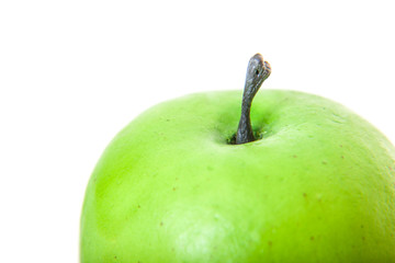 Green apple. All on white background