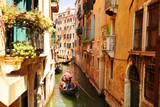 Venice. Canal with gondolas, Italy