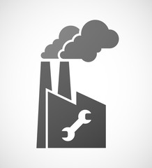 Factory icon with a wrench