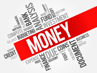 MONEY word cloud, business concept