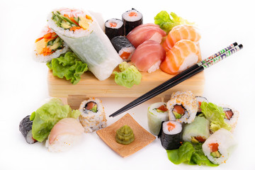 assortment of various sushi