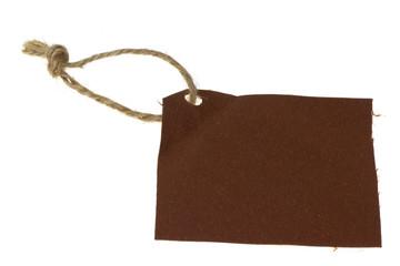 étiquette carré de tissu
