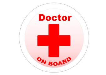 Doctor on board / Sticker